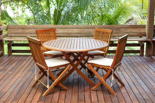 cuidados de los muebles de jardín