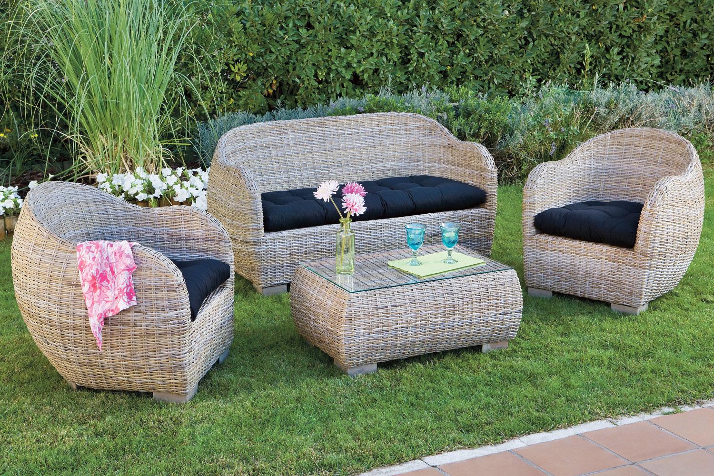 muebles de jardín ejemplo